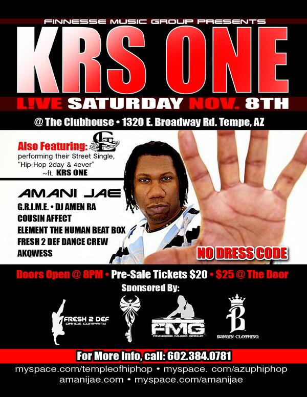 Krs One Flyer Back